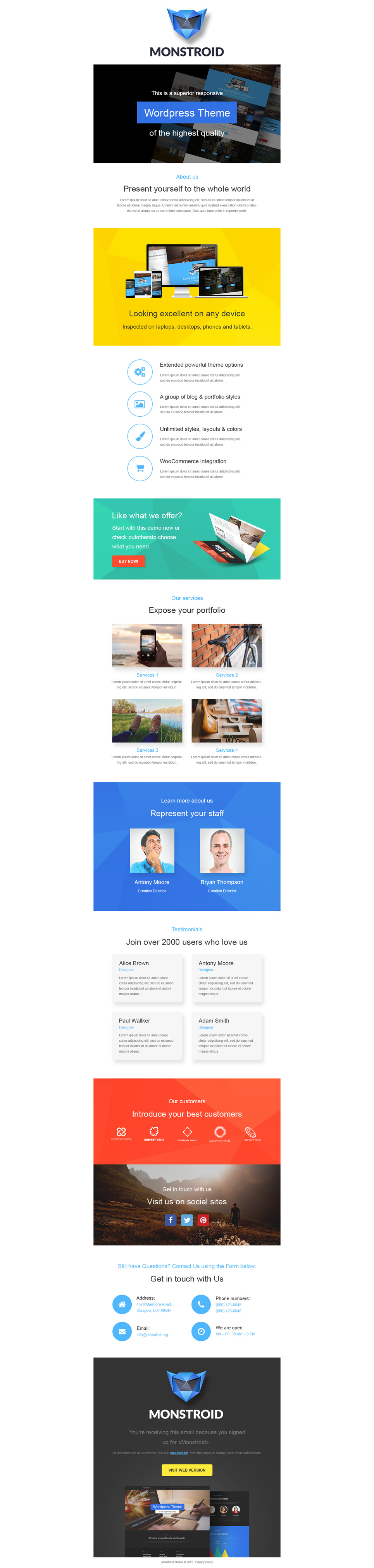 responsive newsletter templates costumepartyrun