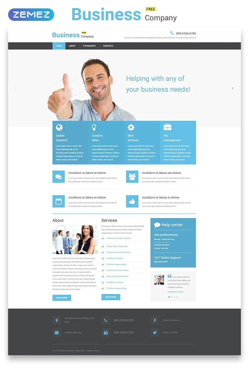 webpage template free