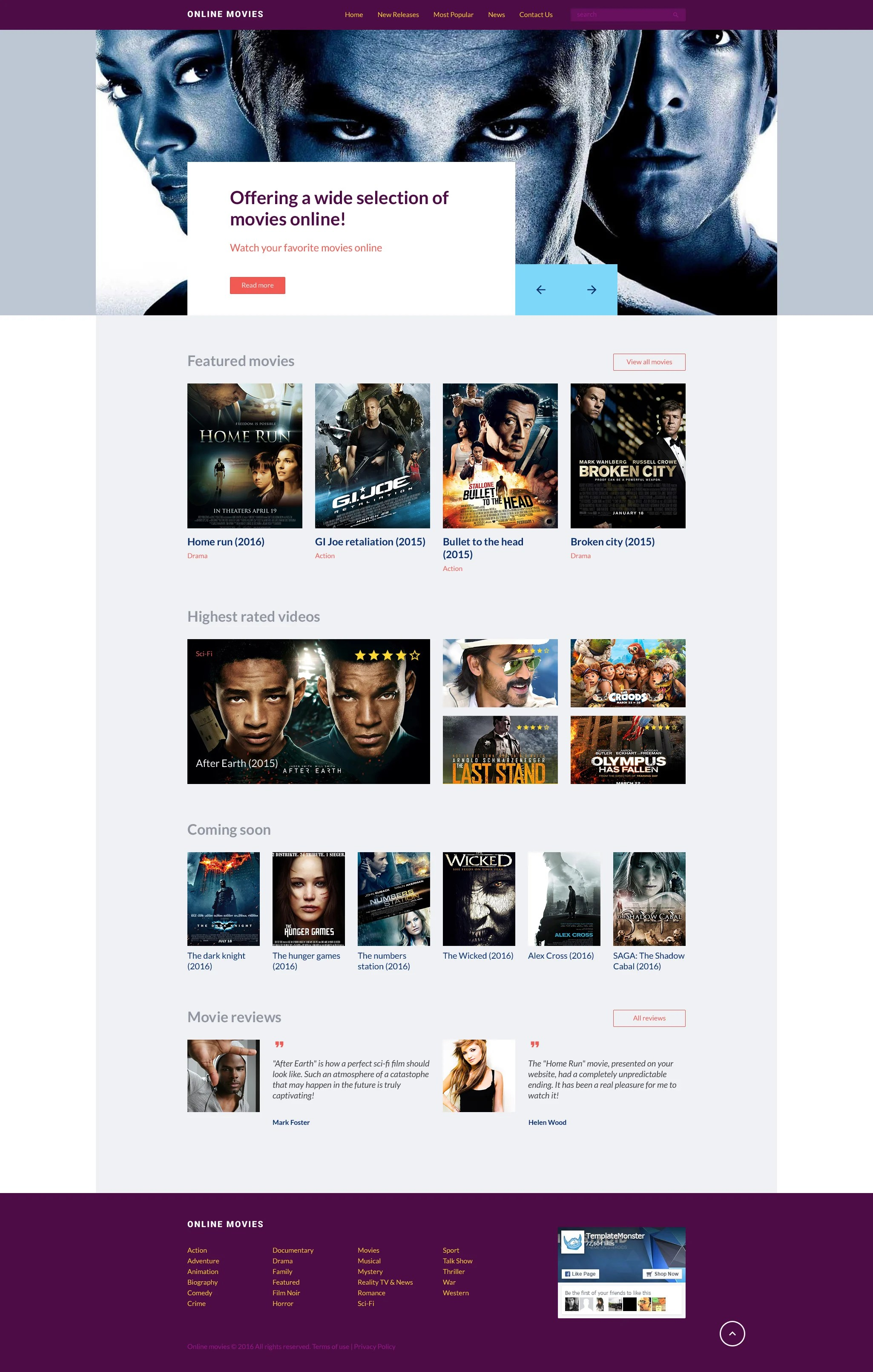 24 Movie Online Movie Online Website Template
