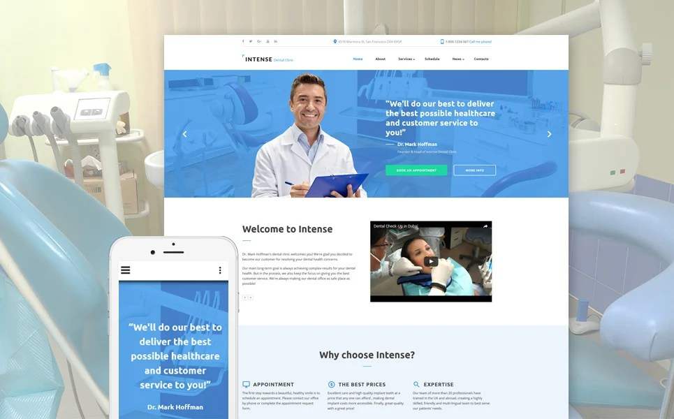Dentist Site Template