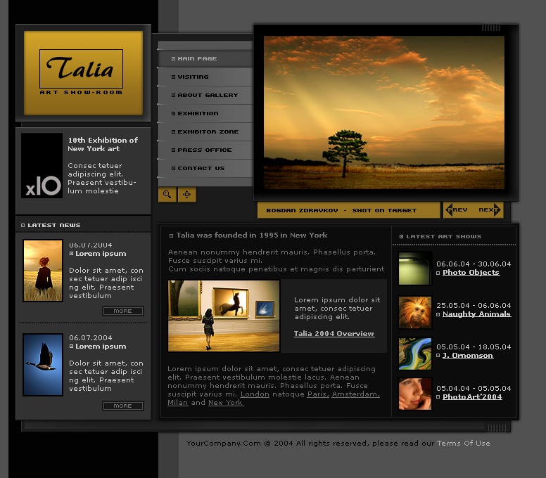 perfect art gallery html template composition resume templates