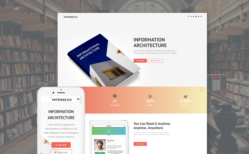 Books Landing Page Template - resume builder free online download