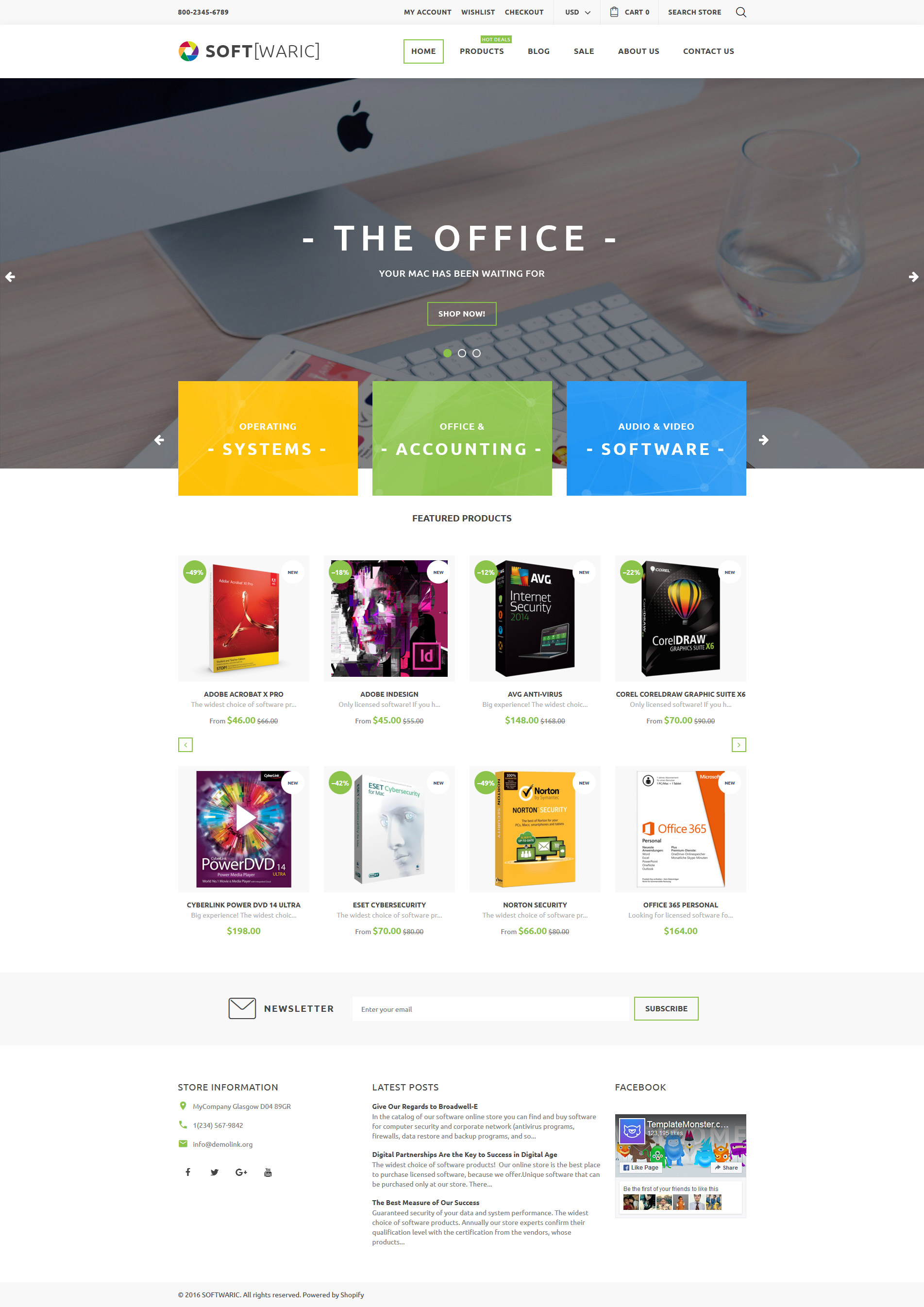 online store template