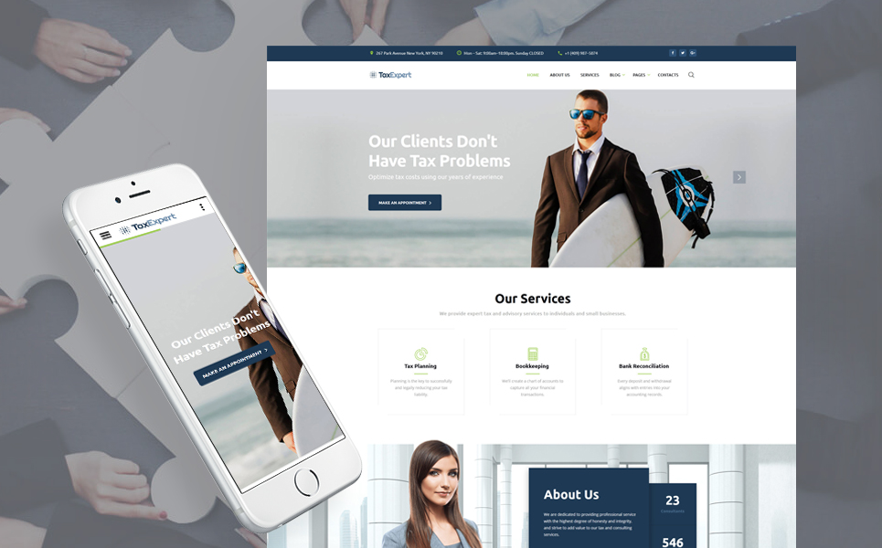 Cms Drupal Tax Consultant Website Template