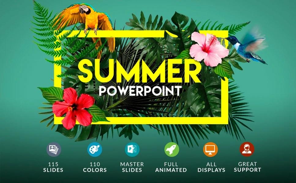 Summer Powerpoint + Bonus PowerPoint Template #63396 - summer powerpoint template