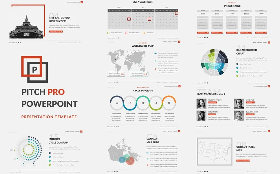 Pitch Pro PowerPoint Template #63876 - product pitch template