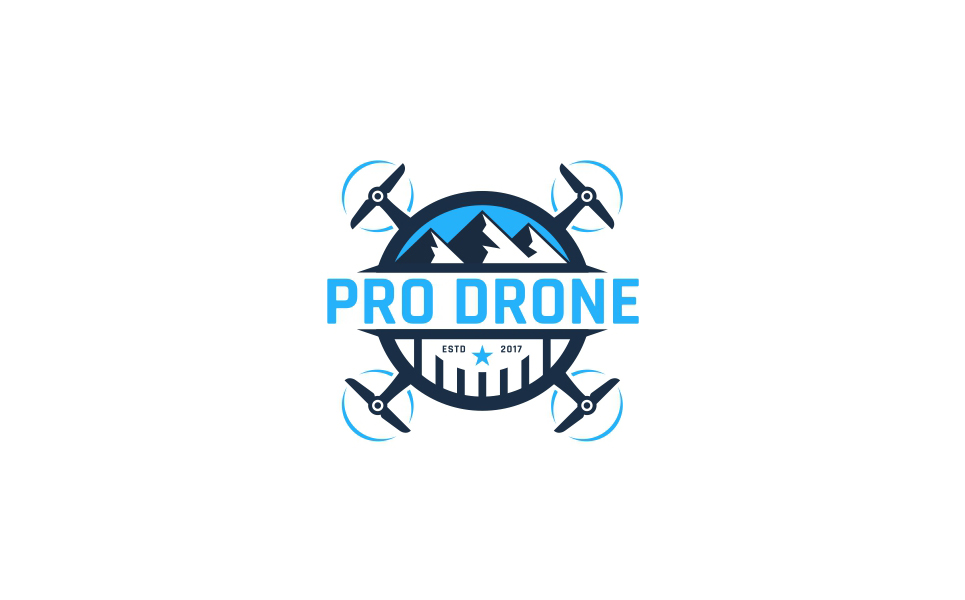 Pro Drone Logo Template #63903 - text logo template