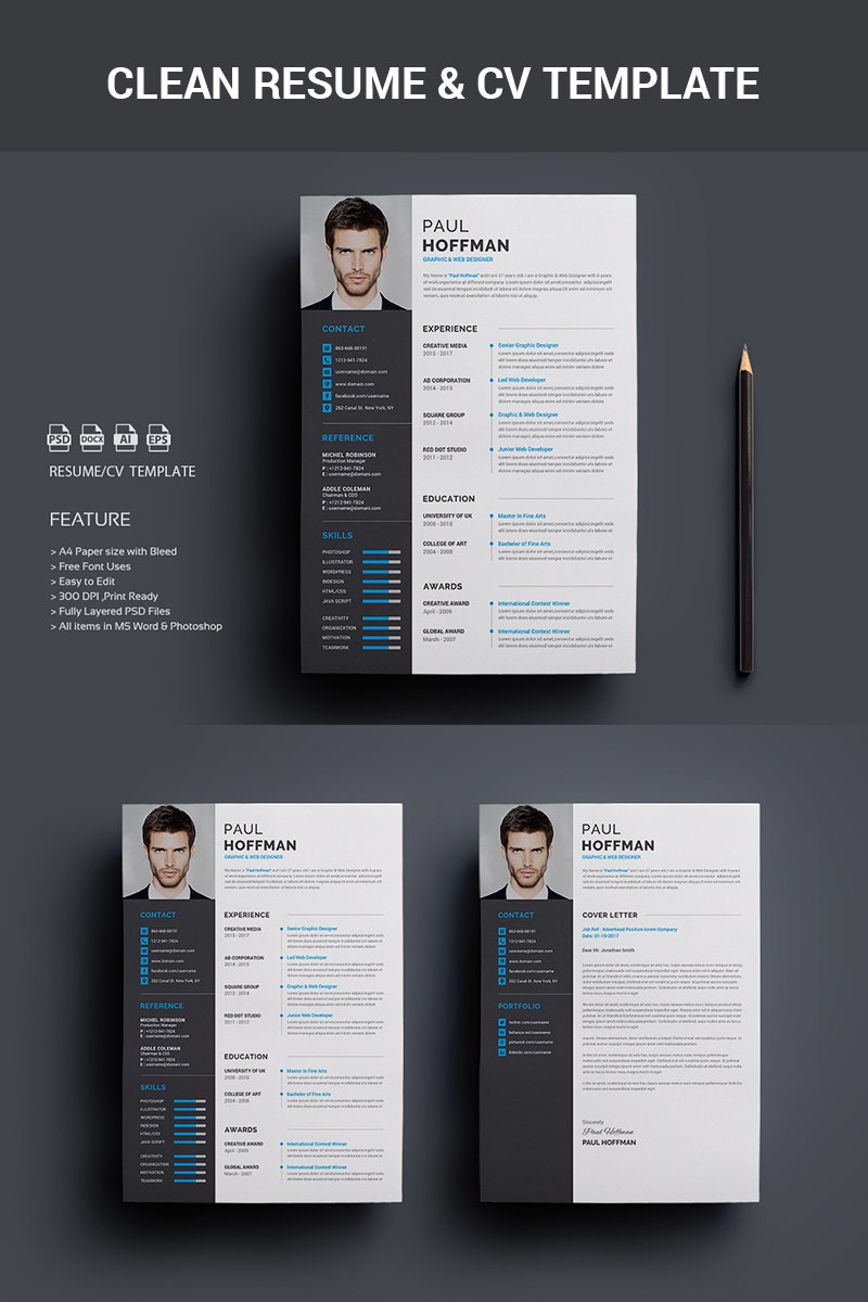an artistic resume design