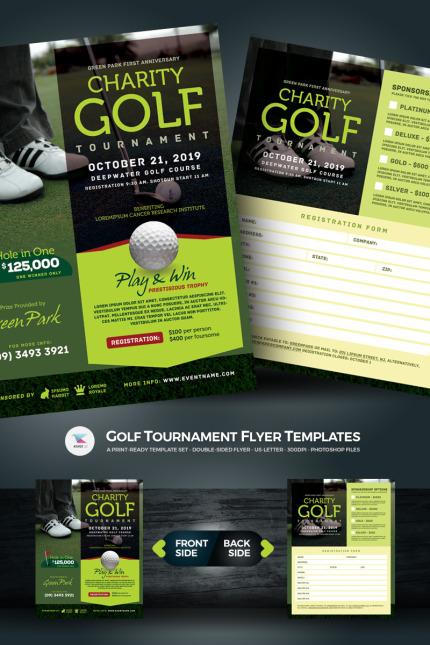 golf tournament flyer psd template 67021