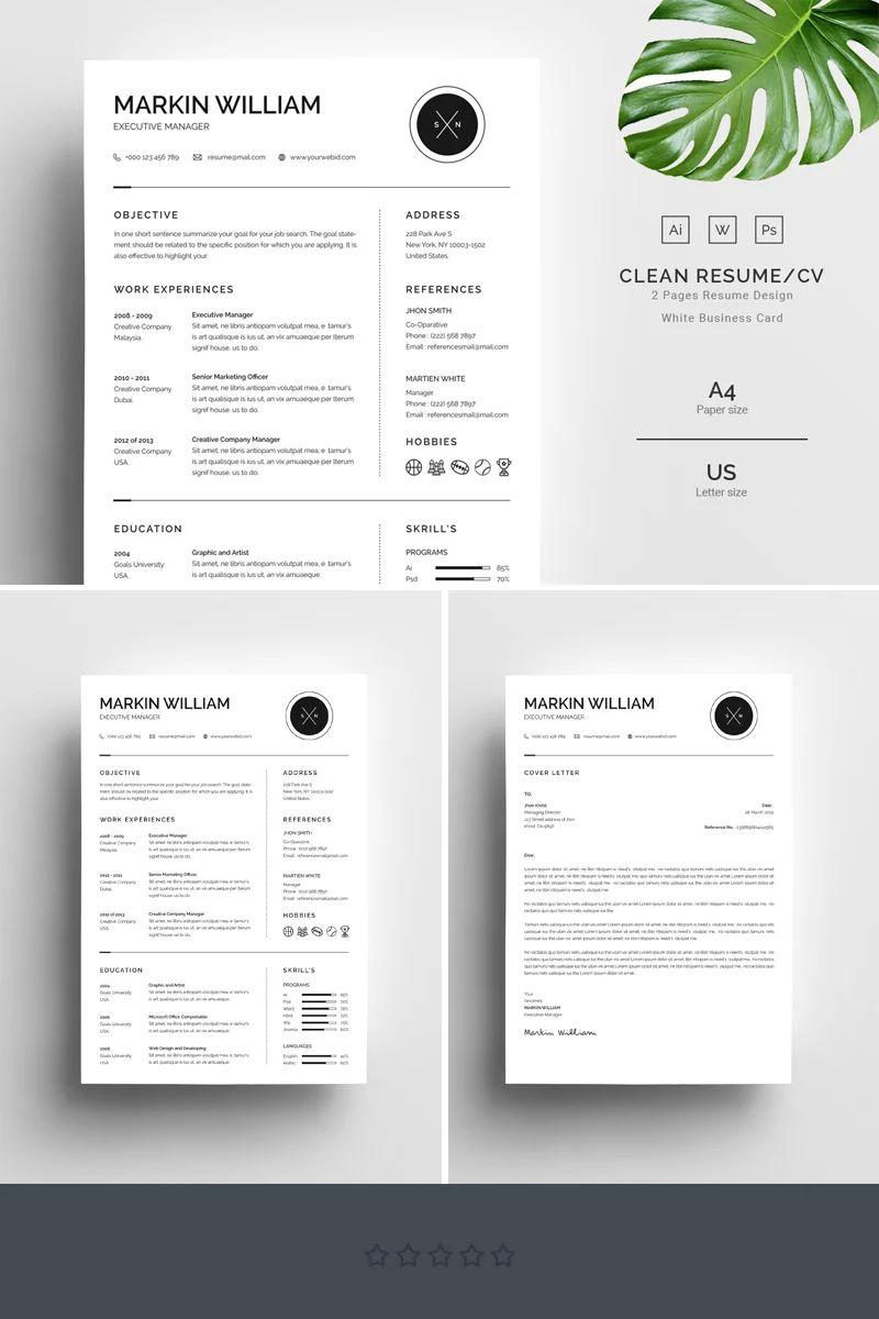 word resume templates free