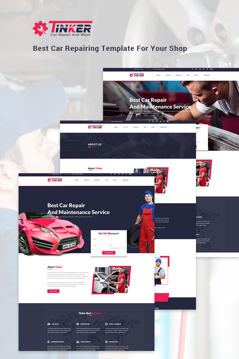 Garage Design Template Website Template 69142 Auto Mechanic Car Custom Website Template