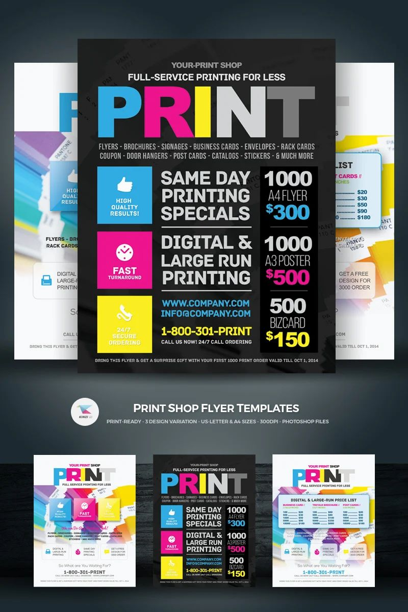create and print flyers for free
