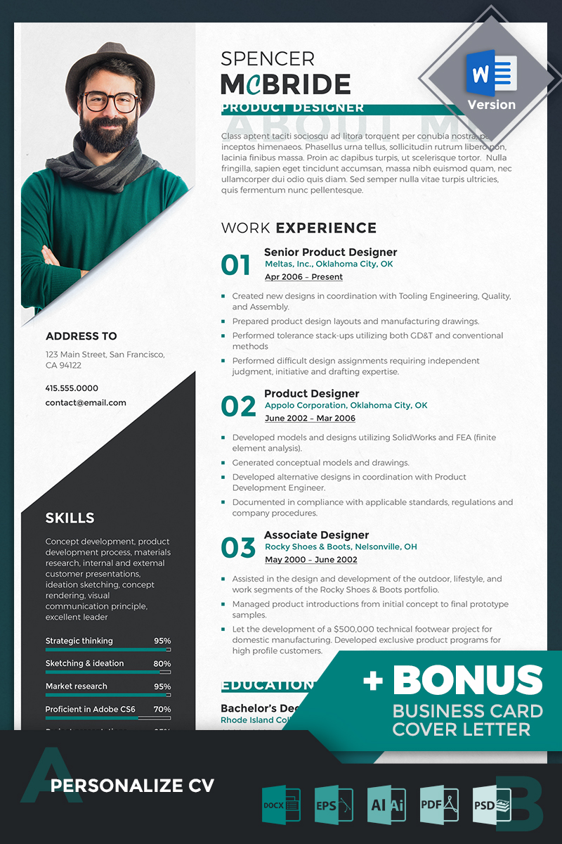cv website design