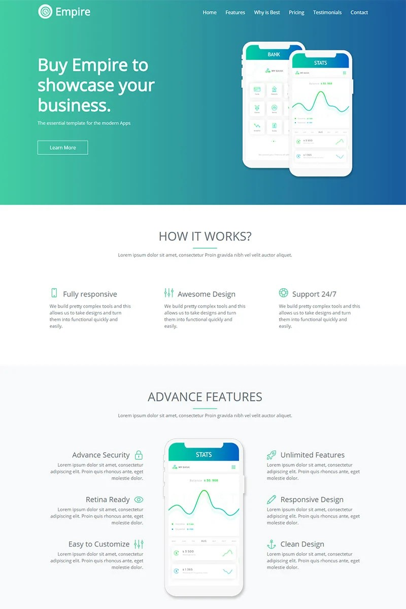 Möbel Modern Design Website Template 70600 App Landing Page Custom Website Template
