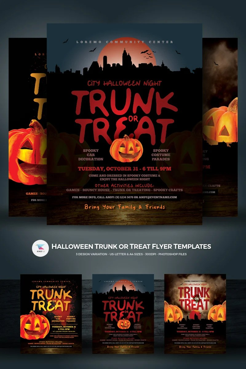Wordpress Free Page Builder Halloween Trunk Or Treat Flyer Corporate Identity Template