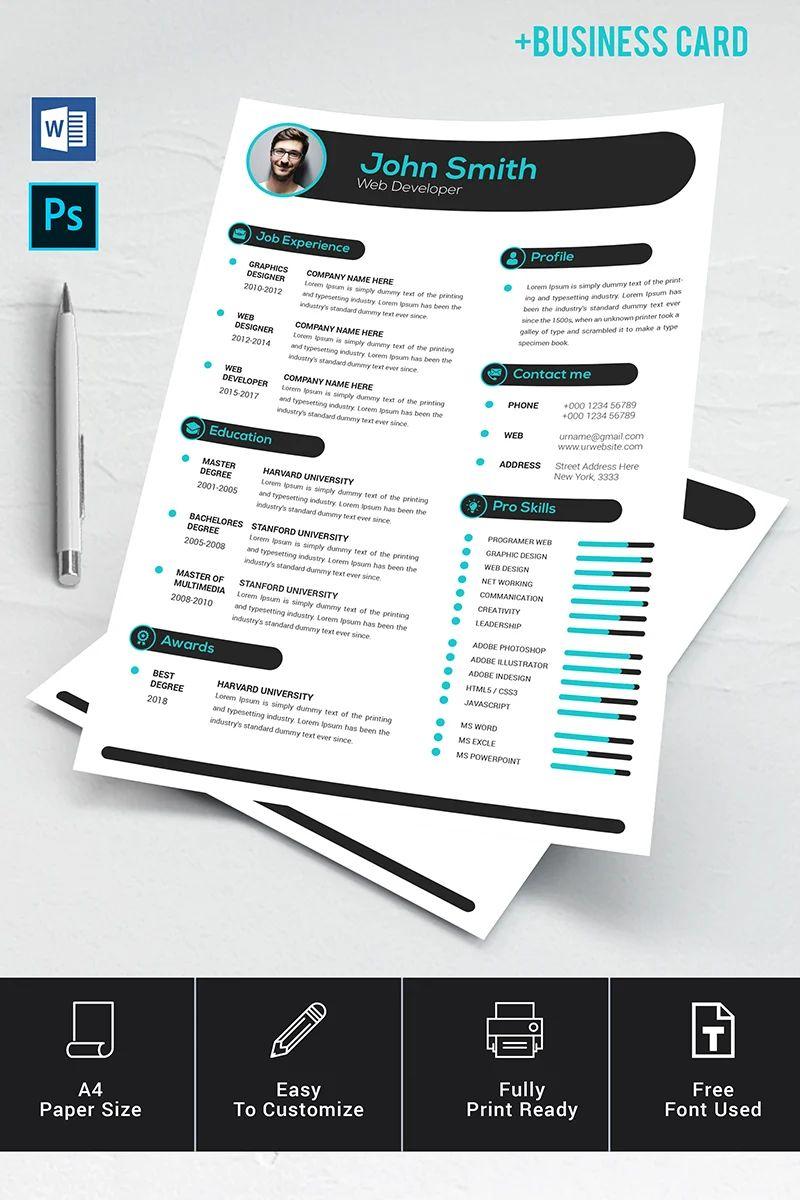 48 days resume template