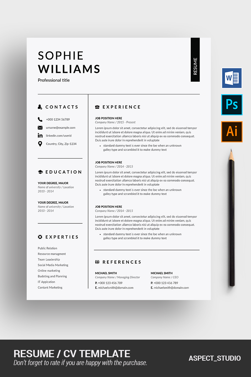 how to do resume on microsoft word