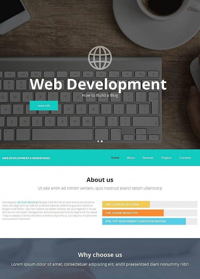 Web Development Company Website Template MotoCMS