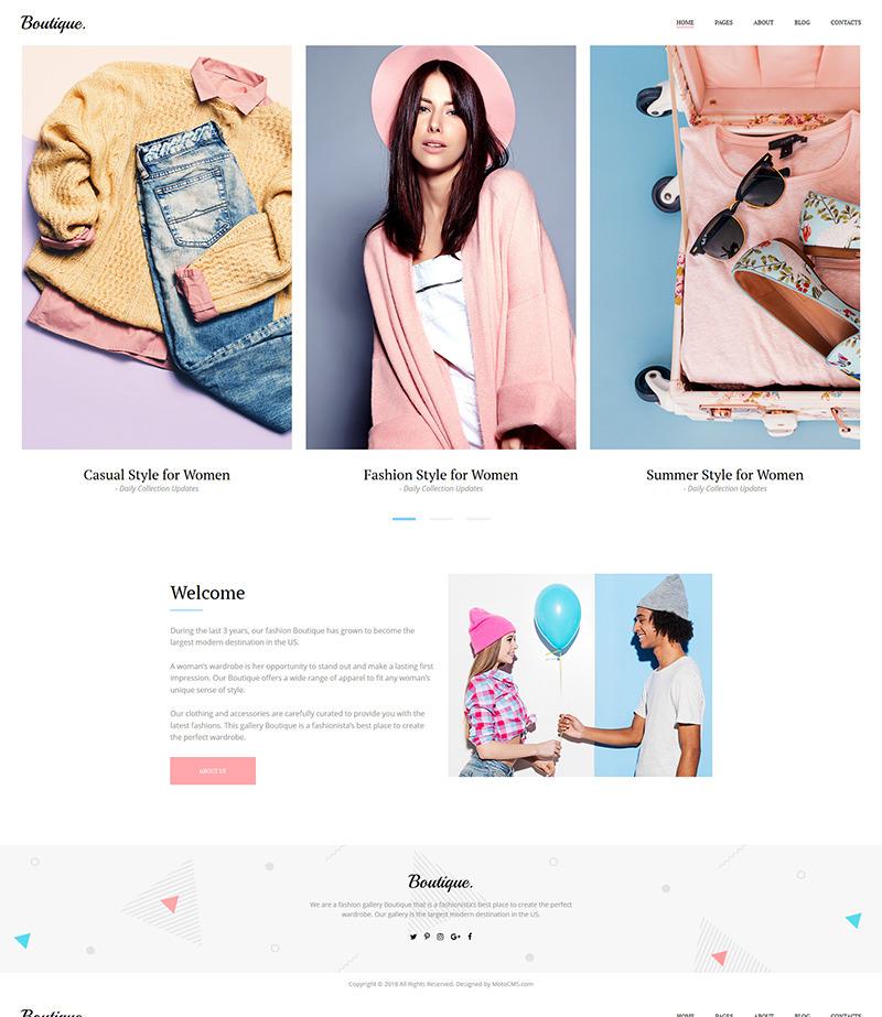 Fashion Portfolio Template for Fashion Portfolio Lookbook Website