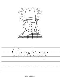 Cowboy Worksheet - Twisty Noodle