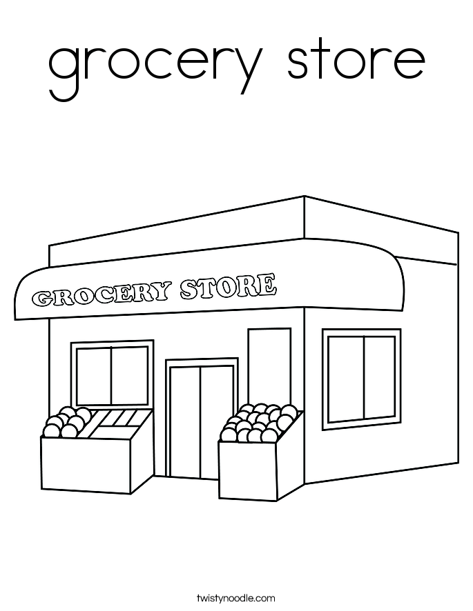 Store Coloring Pages - Eskayalitim