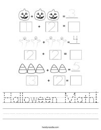 Halloween Math Worksheet - Twisty Noodle