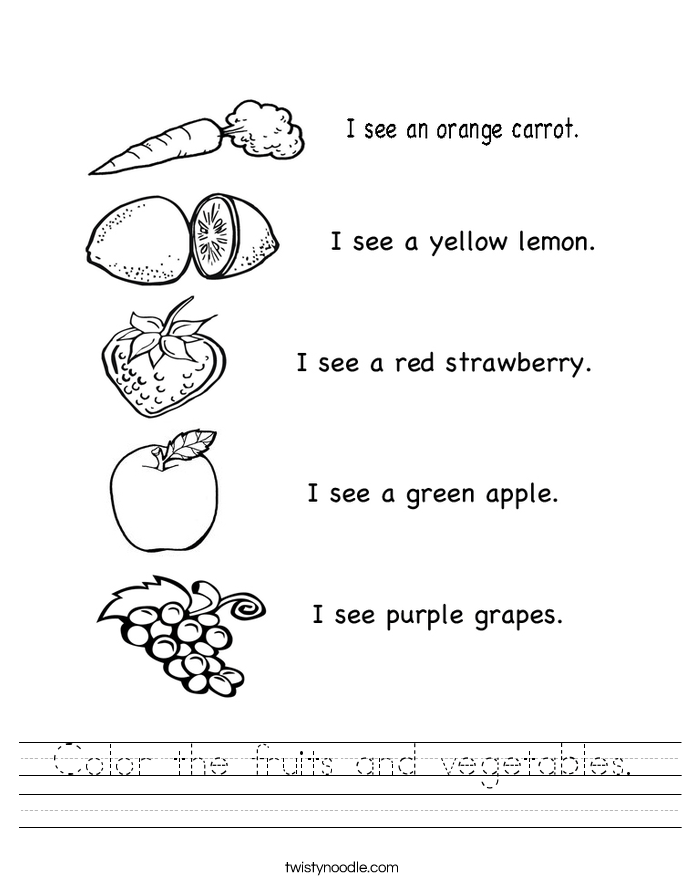 Pics photos fruit and vegetable english worksheet