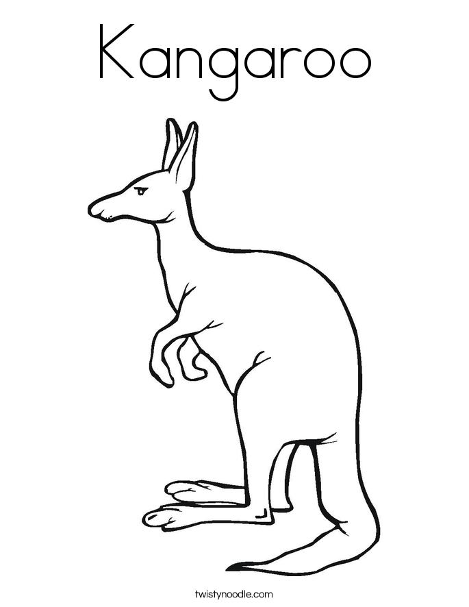 Kangaroo Color Page - Eskayalitim