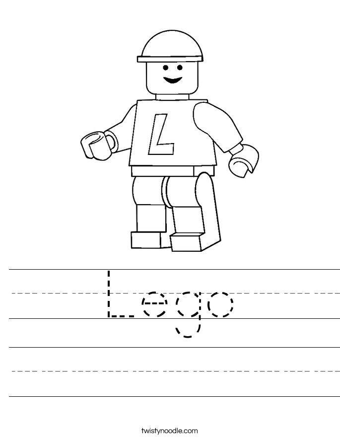 LEGO Handwriting Worksheet