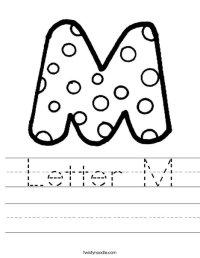 Letter M Worksheet - Twisty Noodle