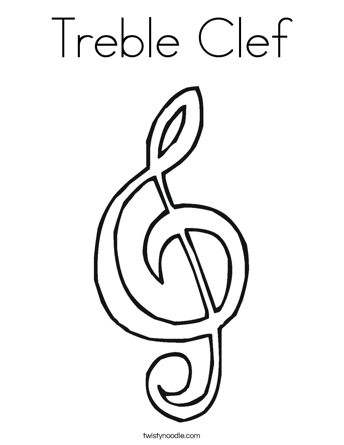 treble clef notes coloring page