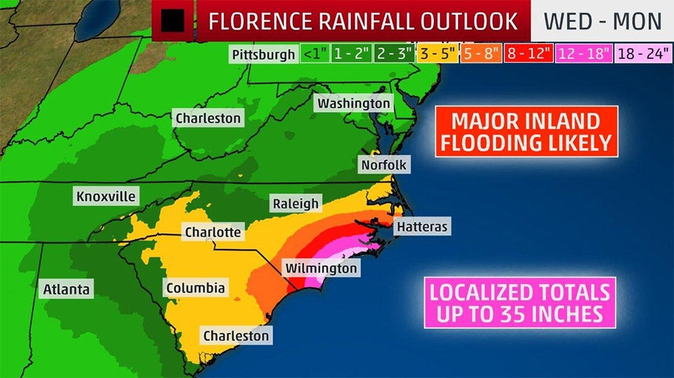 weather channel maps of florence