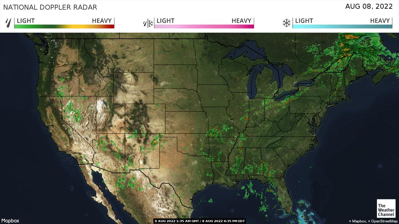 weather channel satellite maps in real time