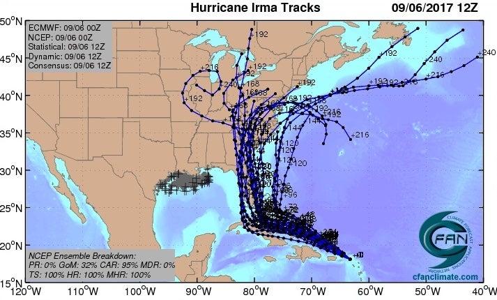 Category 5 Irma Hits Leeward Islands at Peak Strength by Bob Henson
