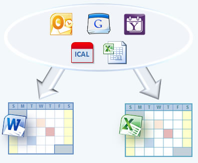 Export Google, Outlook, Yahoo, or ICAL Calendar to Excel  Word