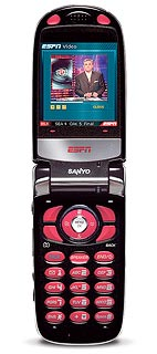 ESPN Mobile's first phone, the Sanyo MVP