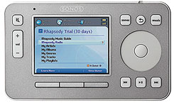 Rhapsody's Music Player