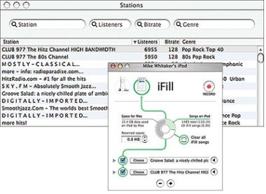 For $19.99, the iFill software program from Griffin Technology will record content from Internet radio directly onto your iPod.