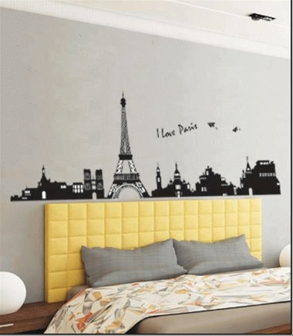 Wallpaper Kamar Paris Wall Sticker Wallpaper Stiker Tembok Dinding Kaca Kayu I Love Paris