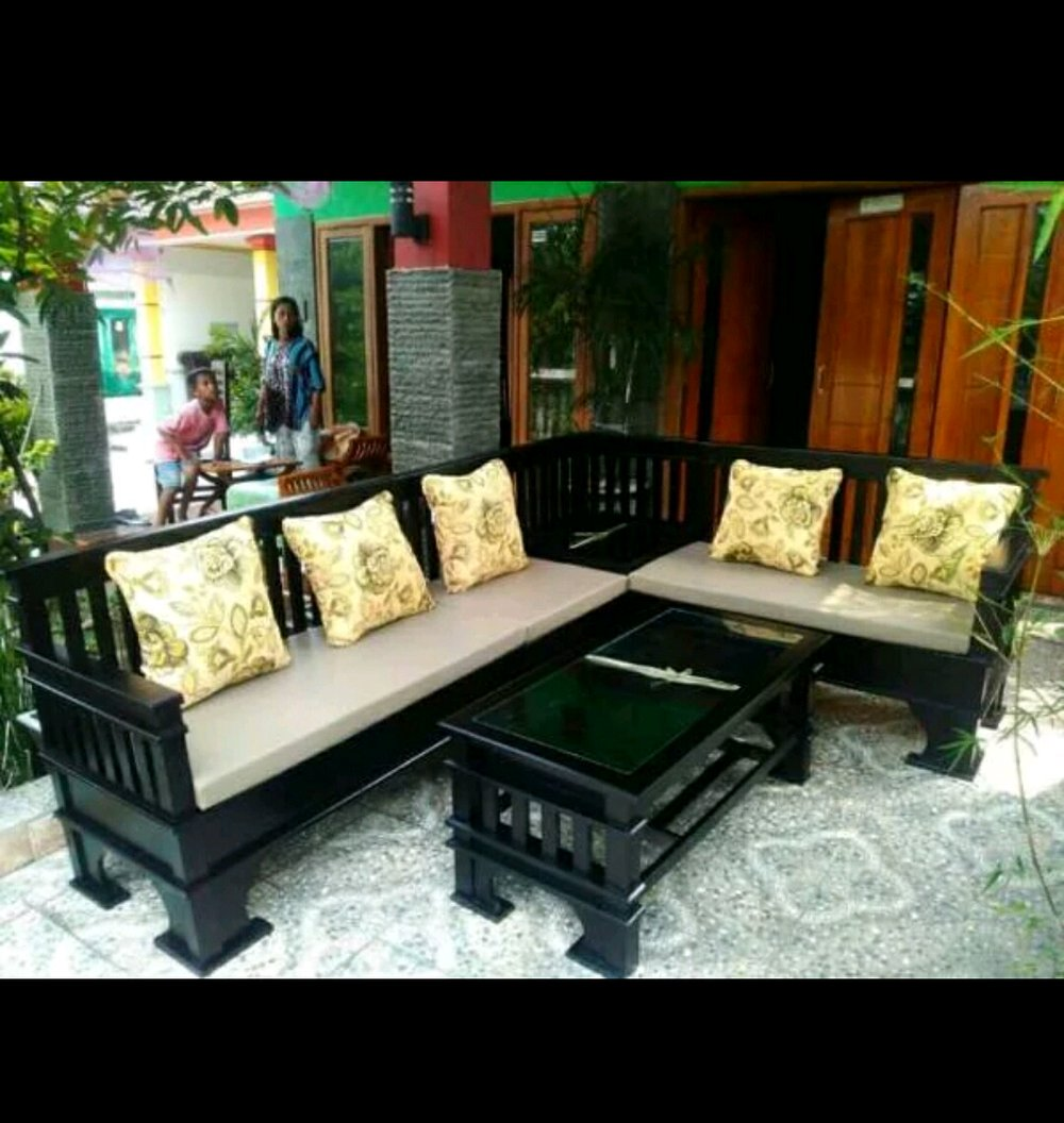 Wood Chair Second Kursi Sofa Kayu Jati Minimalis