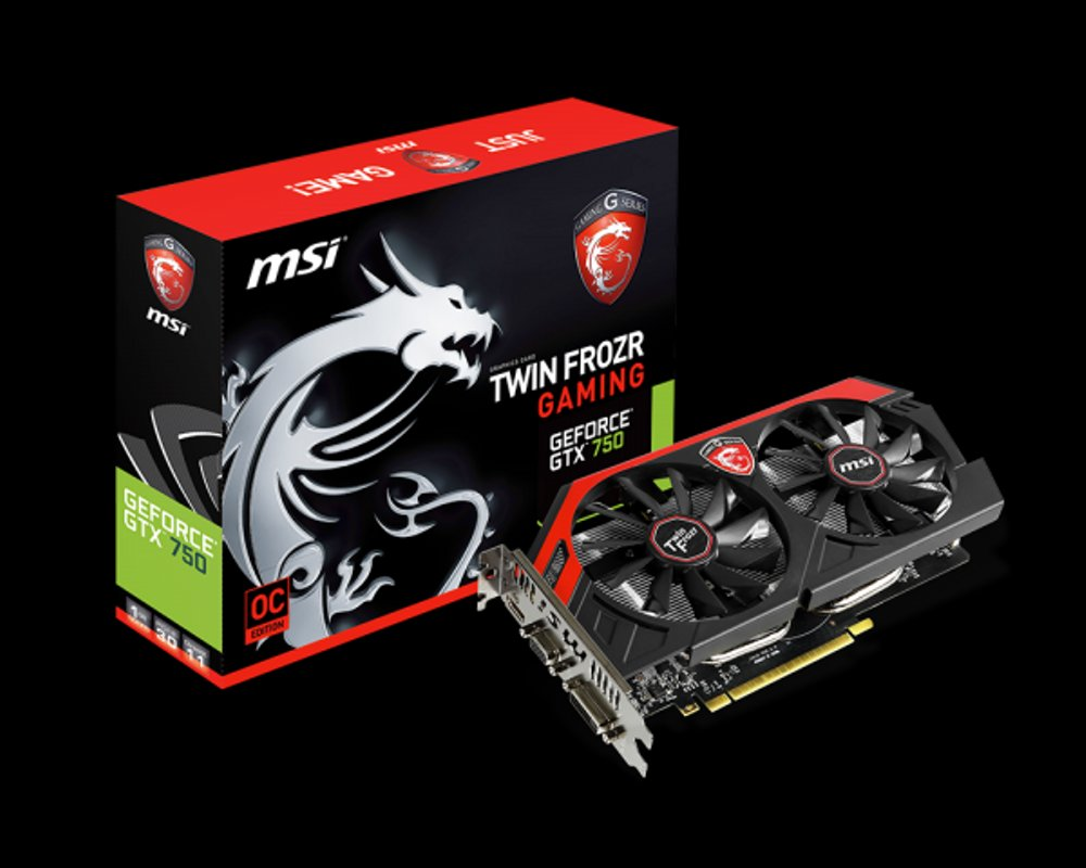 Komputer Gaming Jual Msi Geforce Gtx 750 Ti 2gb Ddr5 - Twin Frozr 2gd5/oc