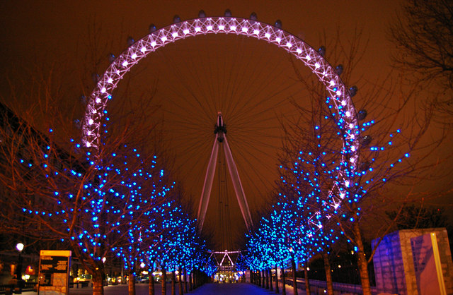 Urban Wallpaper Hd London Eye At Christmas 169 Christine Matthews Cc By Sa 2 0