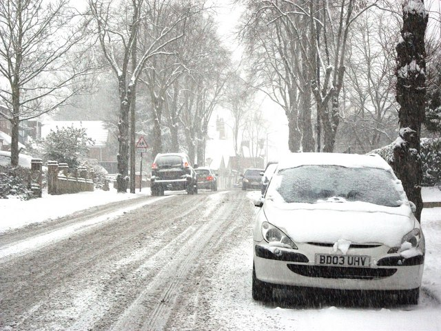 Snow Falling Video Wallpaper Priory Road In The Snow 169 John Brightley Geograph