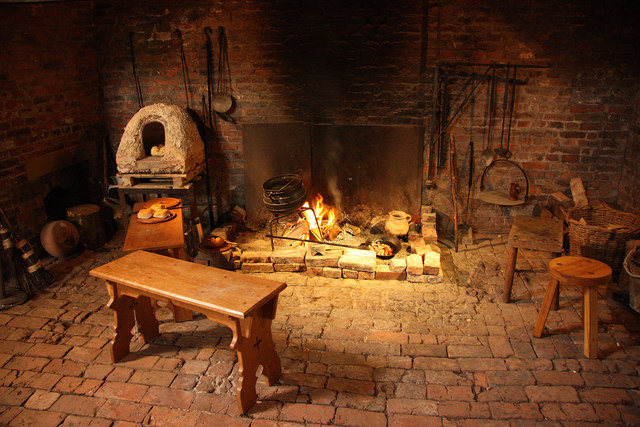 Fall Cabin The Woods Wallpaper Medieval Kitchen Fireplace 169 Richard Croft Cc By Sa 2 0