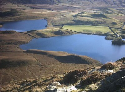 Looking down on Cregennan Lakes from... © Martin Creek cc-by-sa/2.0 :: Geograph Britain and Ireland