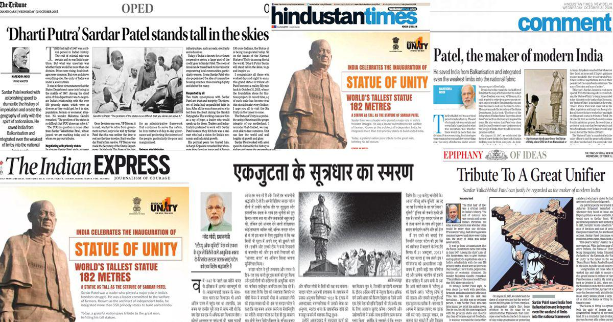 Patelopoly Why the front and op-ed pages of newspapers look the