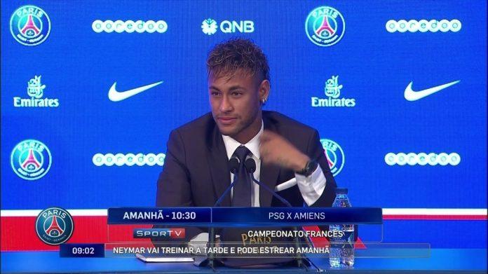 Neymar diz que tomou a decisão de jogar no PSG há dois dias: