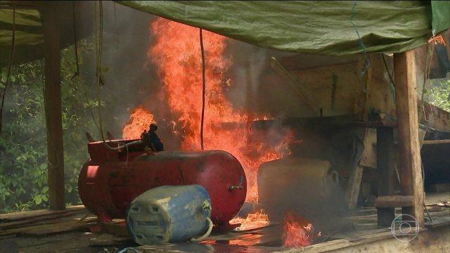 Operação do Exército encontra garimpo ilegal dentro de reserva indígena em Roraima