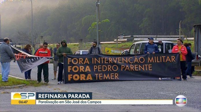 Petroleiros cruzam os braços em São José dos Campos