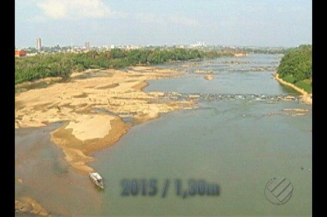 Seca do rio Tocantins, em Marabá, atinge marca histórica